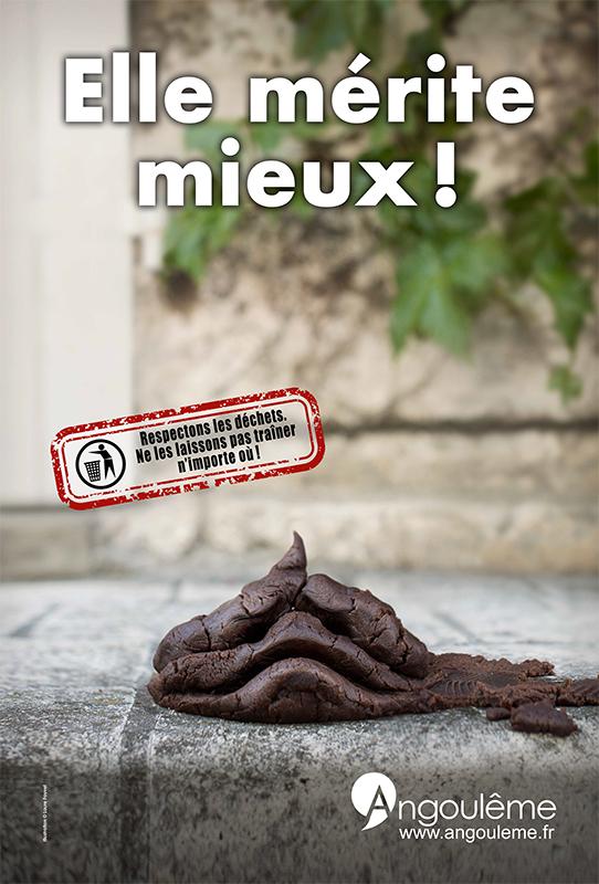 Campagne de propreté dans la ville pour la mairie d'Angoulême