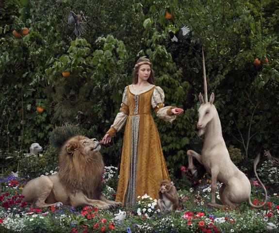 Ré-interprétation photographique des tapisseries de la dame à la licorne