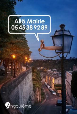 Campagne Allô Mairie pour la mairie d'Angoulême